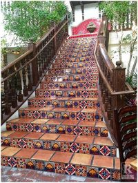 Mexican Tile Staircase - Any Mexican food restaurant needs ...