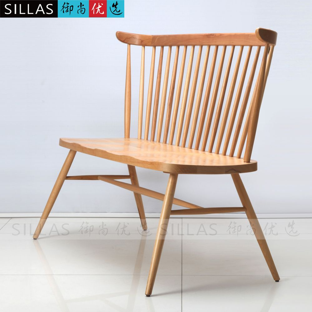 Double windsor chair wood chair scandinavian designer furniture wooden dining chairs american restaurant cafe