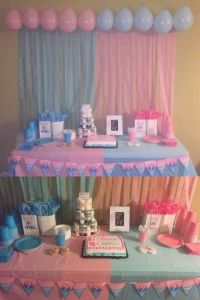 Gender reveal party decoration I did for my reveal shower ...
