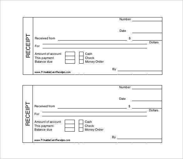 Printable Cash Receipt Template Free , Receipt Template Doc for - free receipts templates