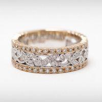 vintage style diamond anniversary band yellow gold | White ...