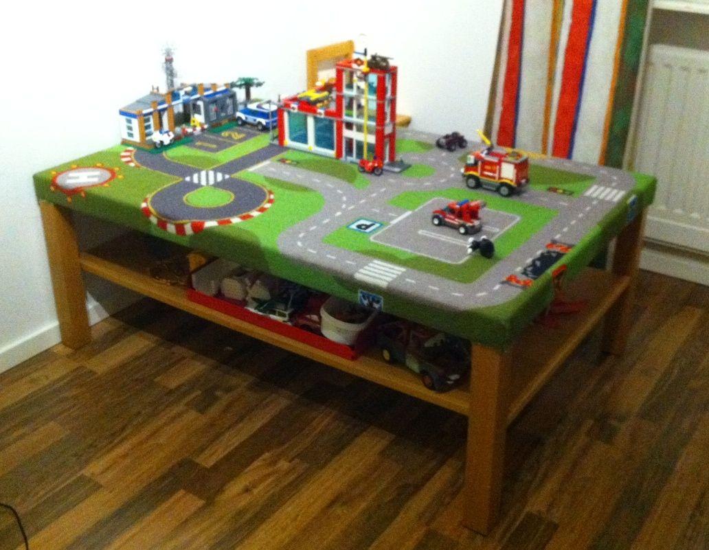 Ikea Lack Coffee Table Lillabo Play Mat Fun Train Car