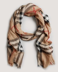 Burberry Giant Check Gauze Scarf | Bloomingdale's | I'd ...