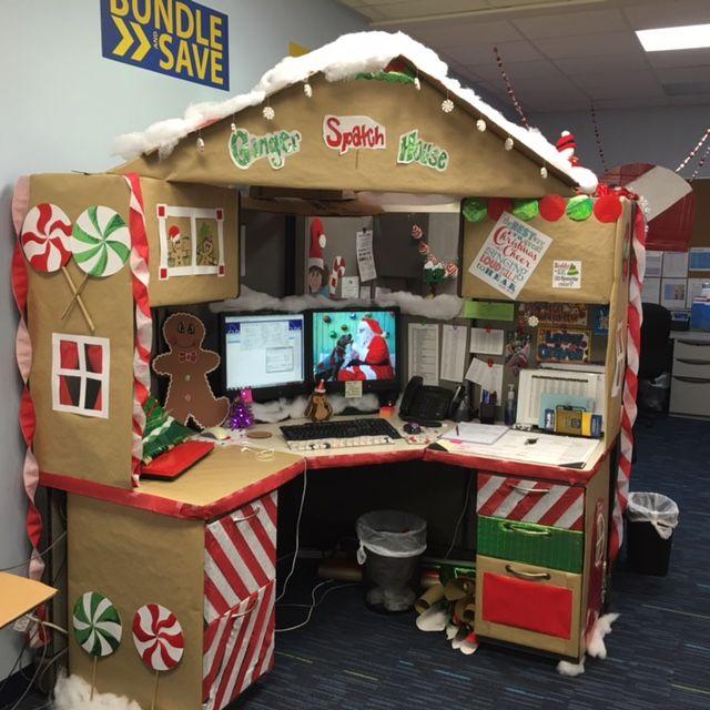 Work Desk Decorations Gingerbread Desk Christmas Desk
