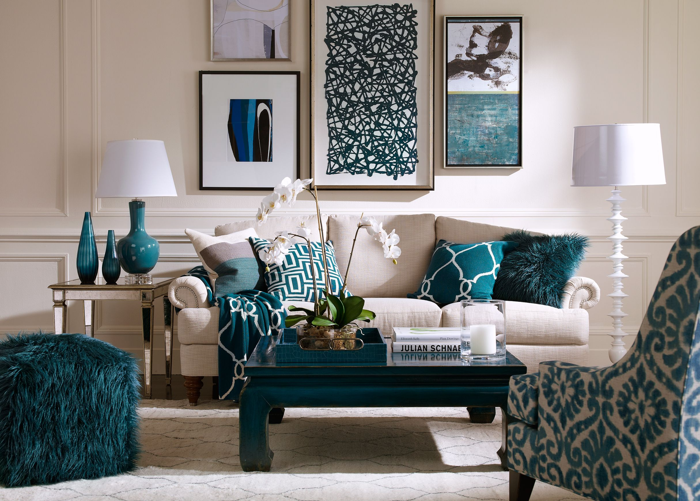 Blue And Yellow Living Room Decor Blue Lagoon Living Room Ethan Allen For The Home