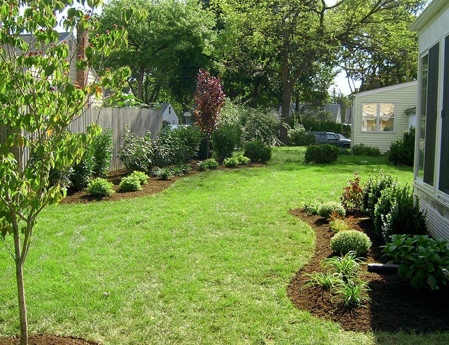 landscaping along fences