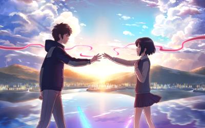 Anime Your Name. Mitsuha Miyamizu Kimi No Na Wa. Taki Tachibana Wallpaper   random   Pinterest ...