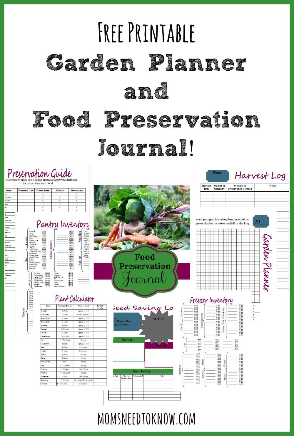 garden journal template