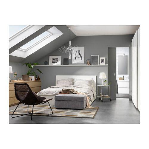 MALM Bettgestell hoch mit 4 Schubladen, weiß Malm, High bed - schlafzimmer mit malm bett 2