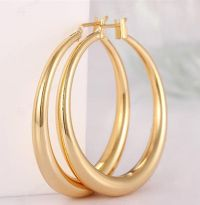 women hoop earring gold plated