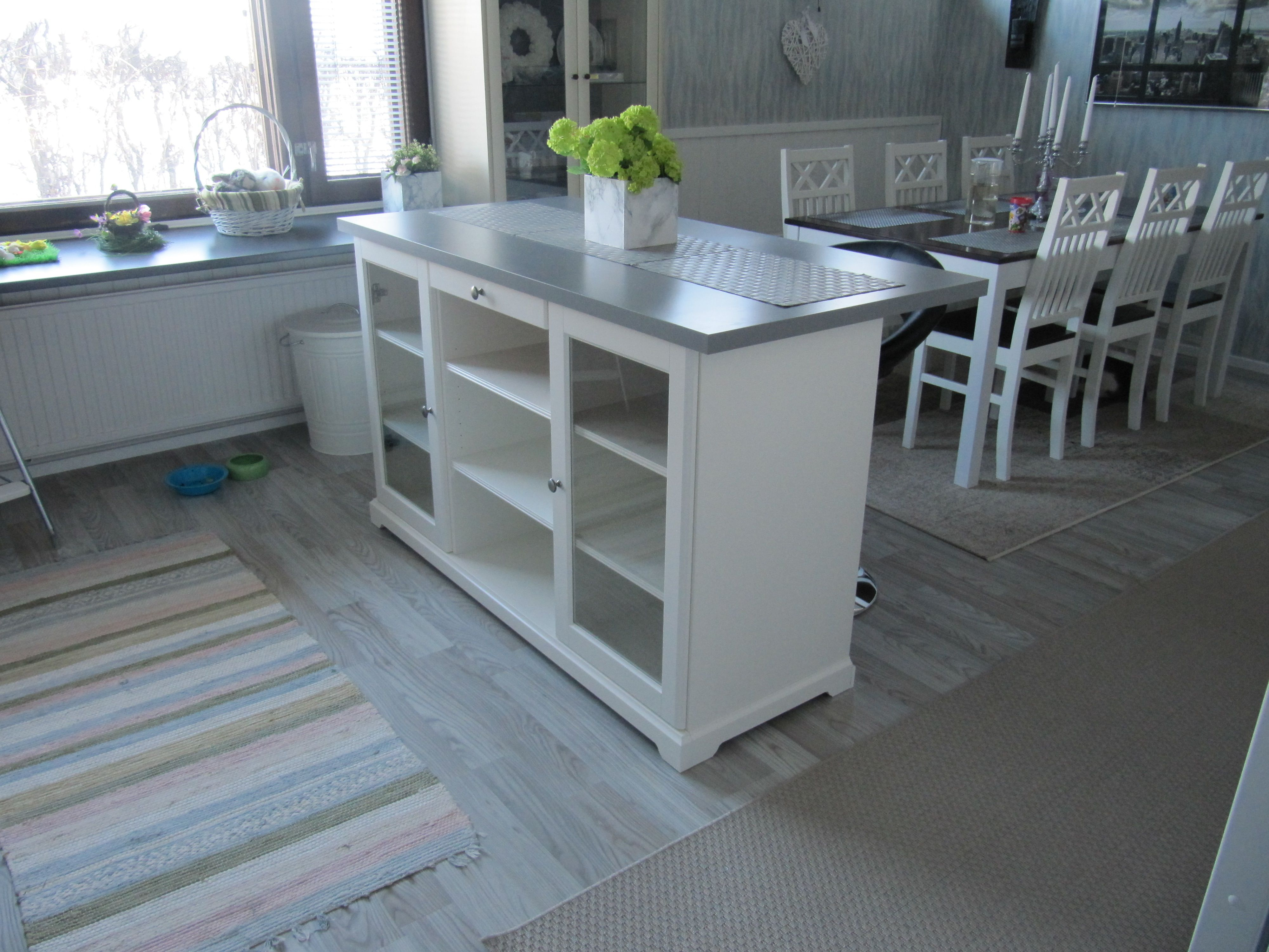 Building A Kitchen Island With Ikea Cabinets Kitchen After Renovation. Ikea Hack Liatorp Senkki