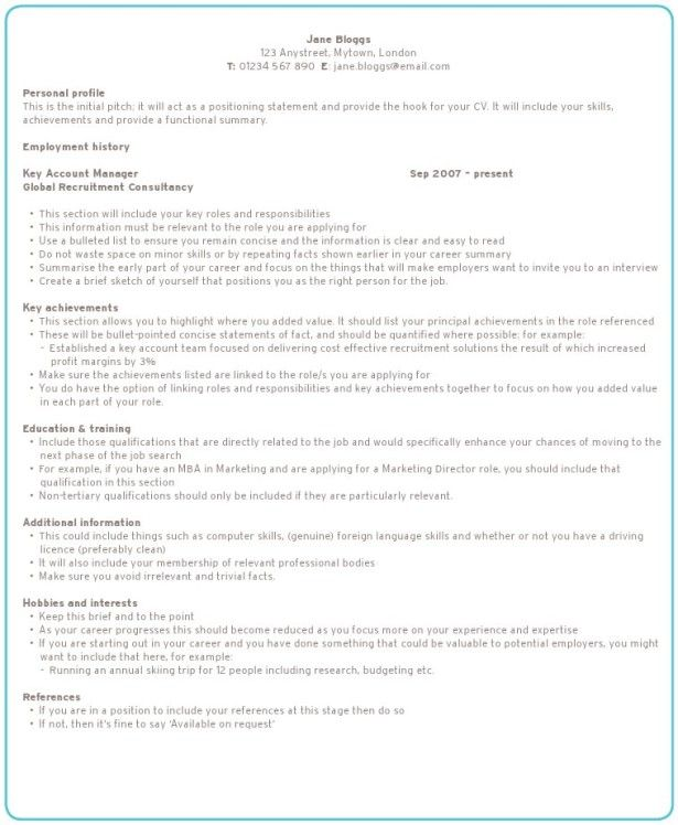 Resumes, Best College Personal Profile And How To Write The   How To Write  Resume