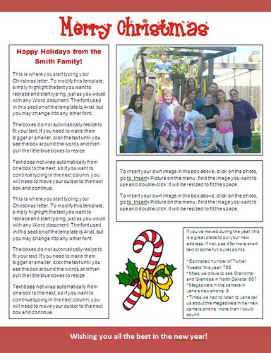 MS Word Christmas Newsletter Template (Candy Cane Design) at - free christmas word templates