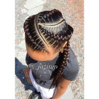 Feed in braids | HAIR! | Pinterest | Hair style, Goddess ...