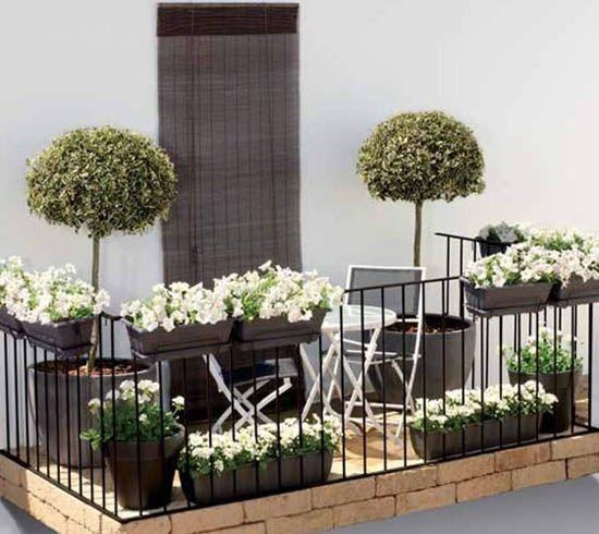 Kleiner Balkon-günstig gestalten-Ideen Tipps Balkon Pinterest - mini balkon gestalten