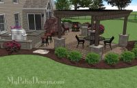 Large Paver Patio Design with Pergola. | Plan No. 1156rr ...