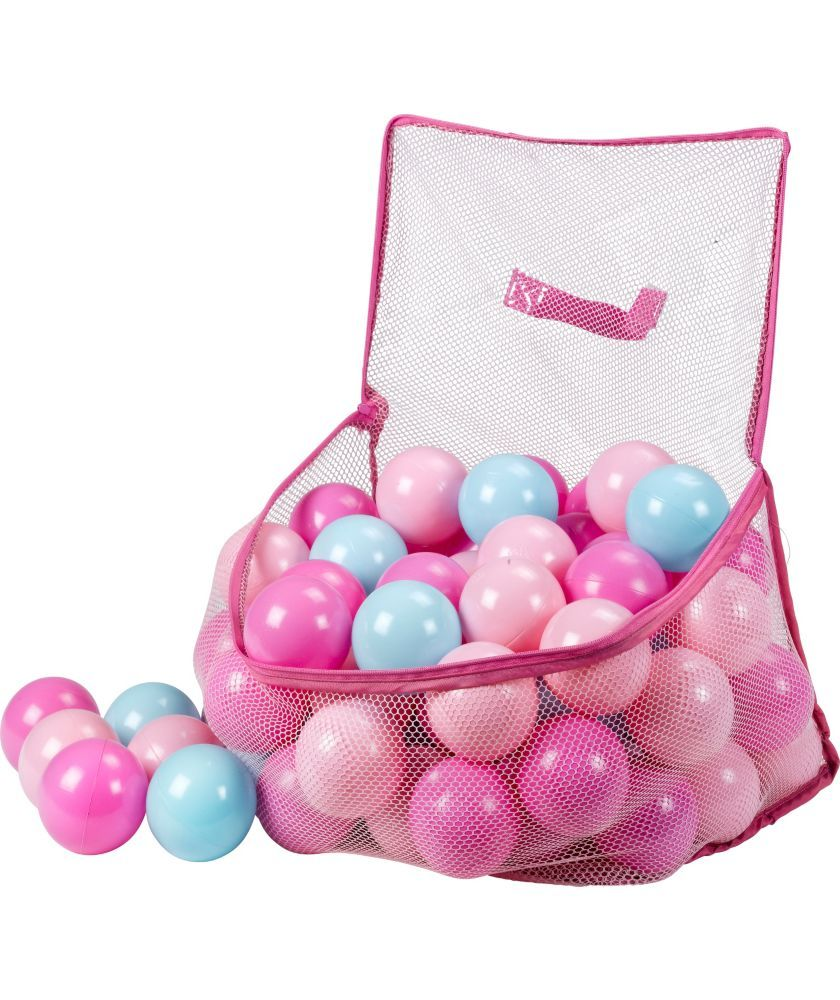 buy chad valley bag of 100 pink and blue playballs at argos co uk
