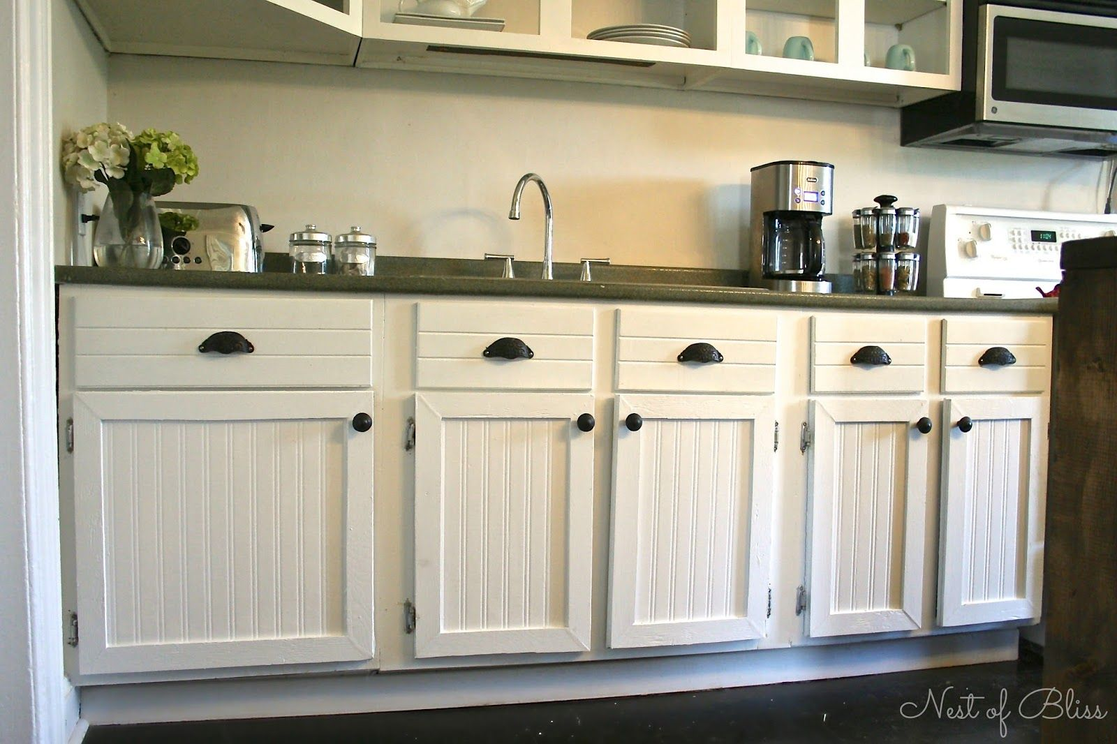 White Beadboard Kitchen Cabinets Diy Beadboard Wallpaper Cabinets I Would Like To Do This