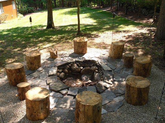 rustic fire pit ideas