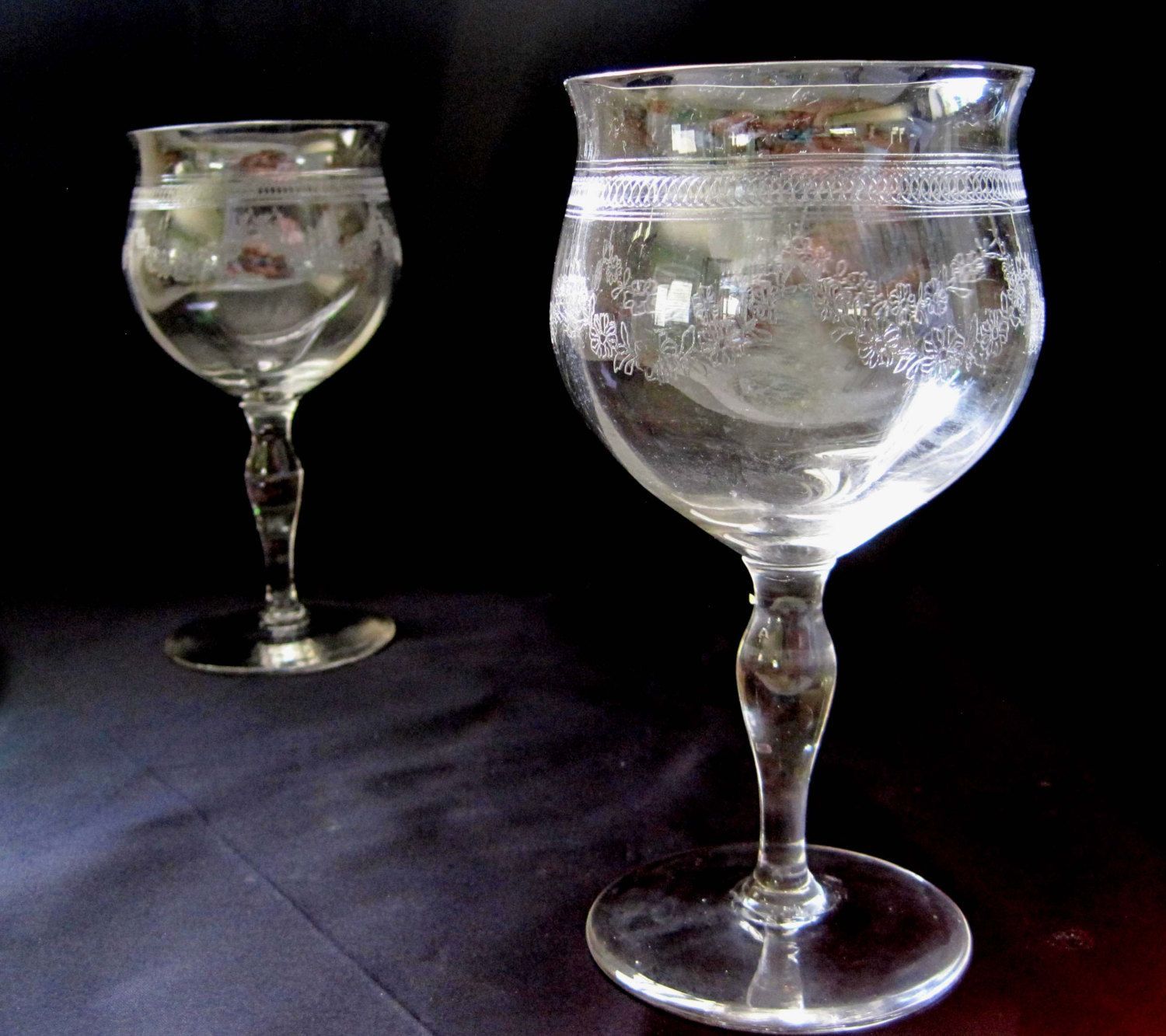 Crystal Stemware Wine Glasses Lead Crystal Wine Glasses Set Of 4 Needle Etched