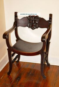 Stomps - Burkhardt Carved Antique Saddle Chair Unique ...