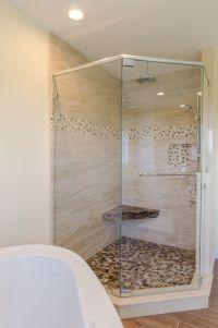 Shower Ideas - large custom tile shower with large tile ...