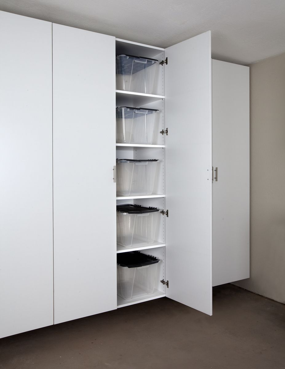 Palo Alto White Tall Garage Cabinet ~Need these in my