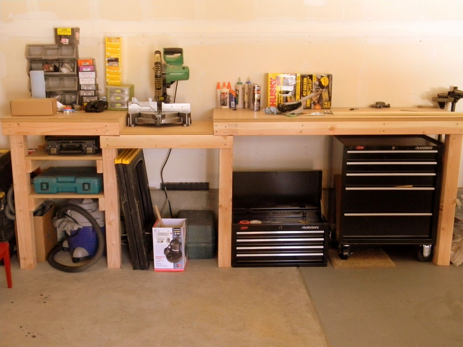 Garage Workbench And Storage Garage Workbench Plans Yard Workshed And Garage