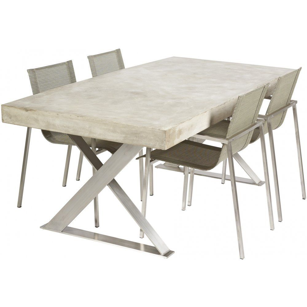 concrete kitchen table Polished Concrete Dining Table with Stainless Steel Legs Urban Couture Designer Homewares Furniture