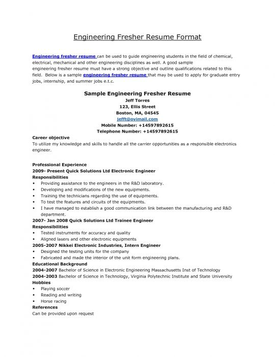 Standard Resume Format For Engineers Chi Square Ap Biology Essay - resume formats for engineers