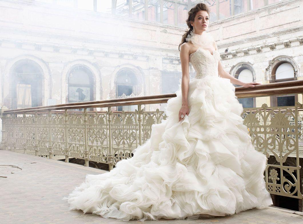 bride wedding dress Lazaro Bridal Gowns Wedding Dresses Style LZ by JLM Couture Inc