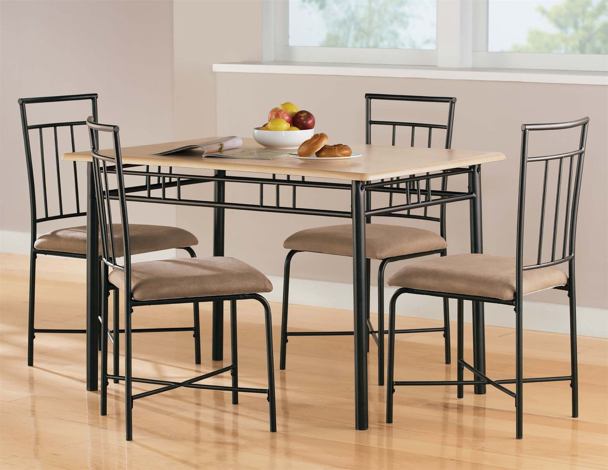 Dining room unique dining room furniture sets with black steel dining table 4 chairs above laminate