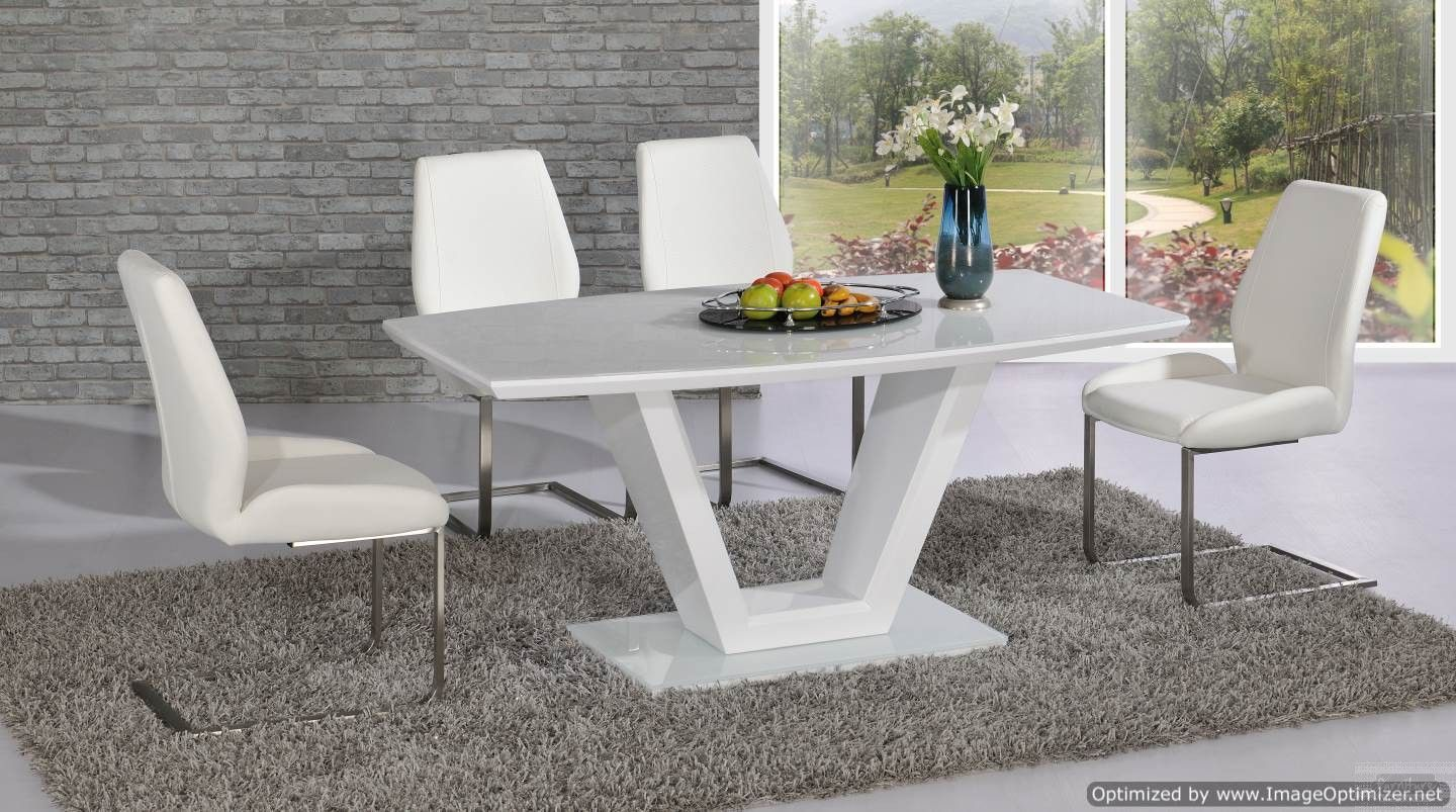 White Vanity Table And Chair Vanity Dining Table In White With Mariya White Leather