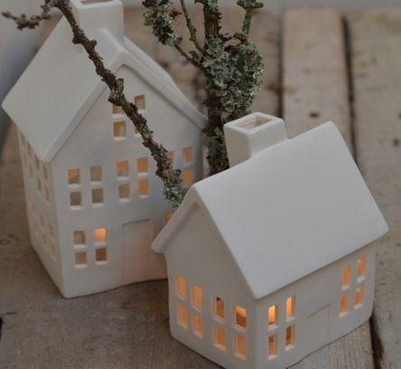 Ceramic House Tealight Holder