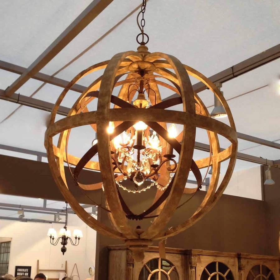 Orb Chandelier Nice Wood Orb Chandelier For Placed Modern Middle Room
