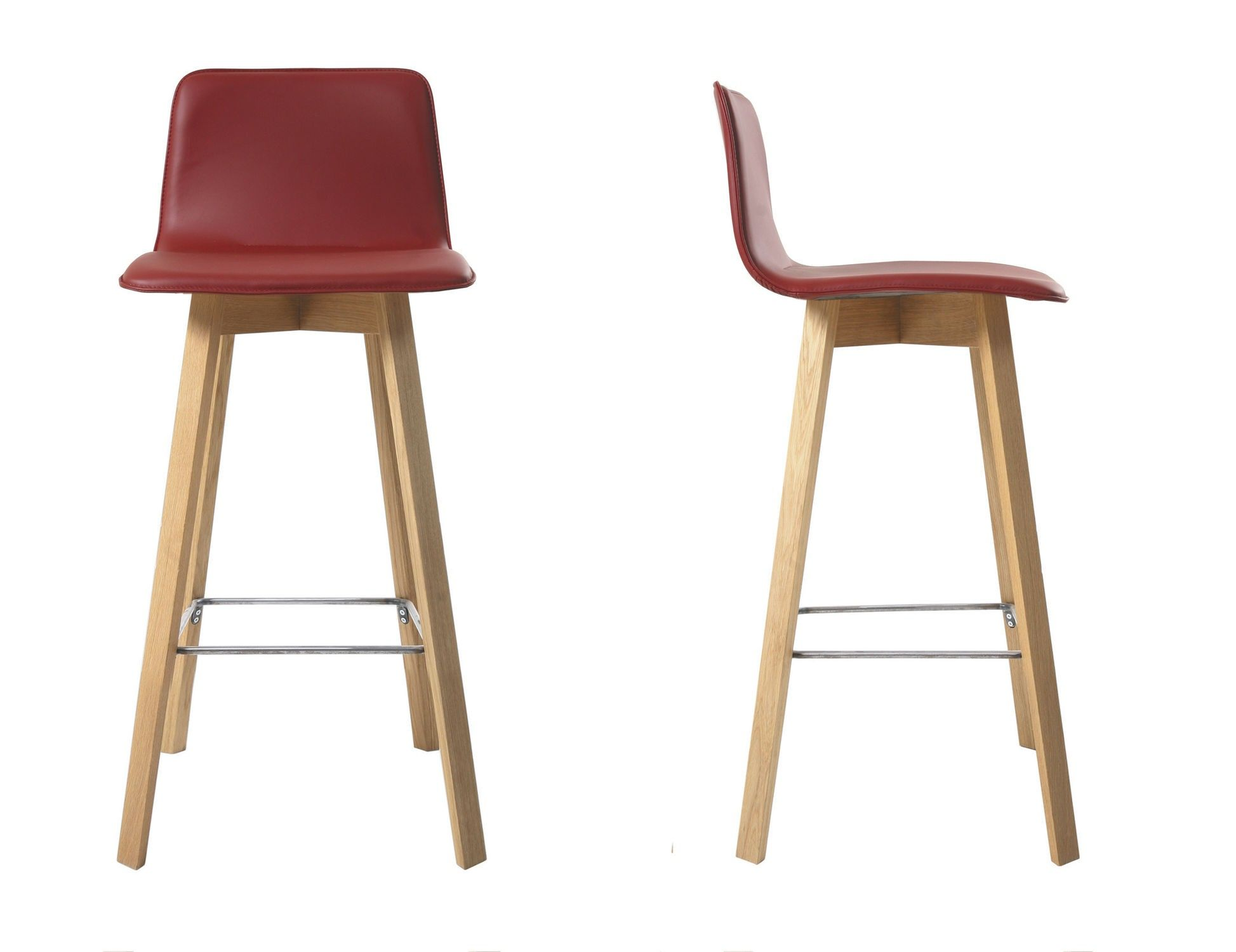 Modern Wood Bar Stool Kitchen Stools With Backs Contemporary Wooden Upholstered