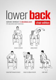 Lower Back Workout (Chair). www.bacrac.co.uk/ | Relax ...