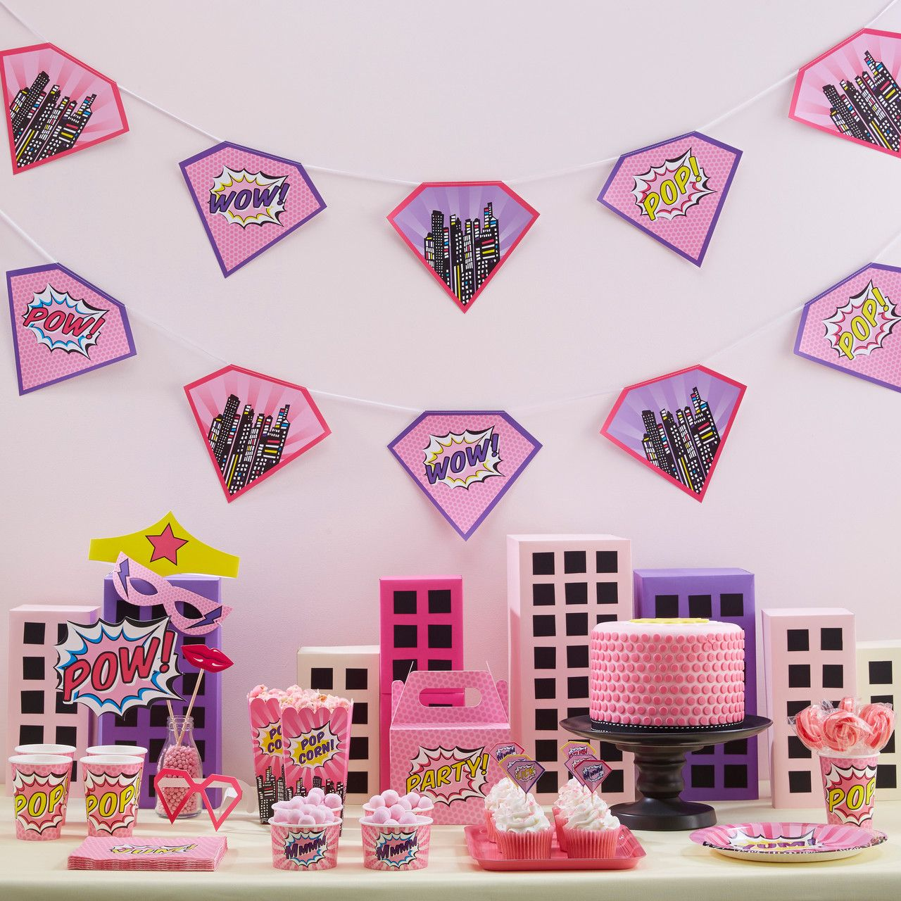 Decoration Anniversaire Girly Décoration Anniversaire Super Héros Fille Superhero Girl