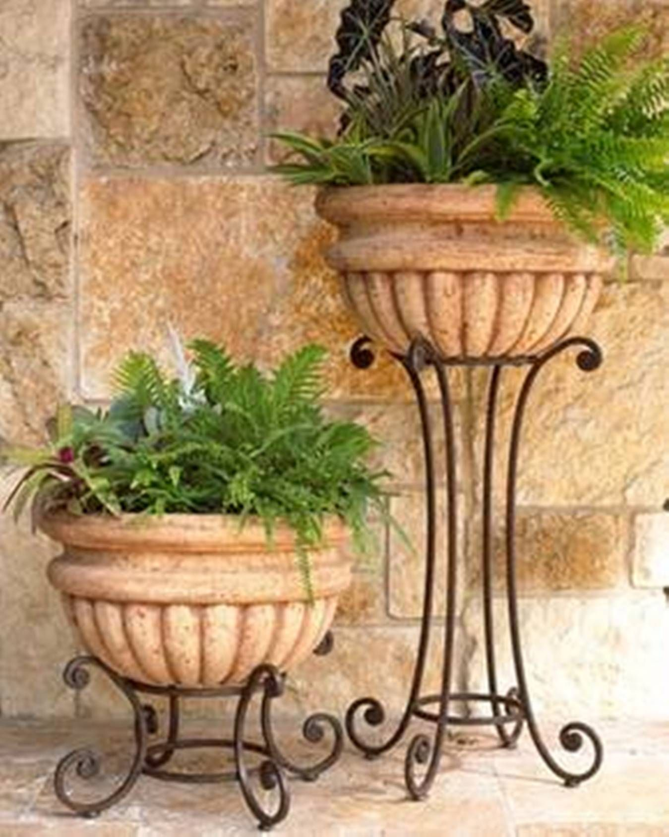 Tall Wrought Iron Plant Stands Home Design And Decor Wrought Iron Planters Tall And