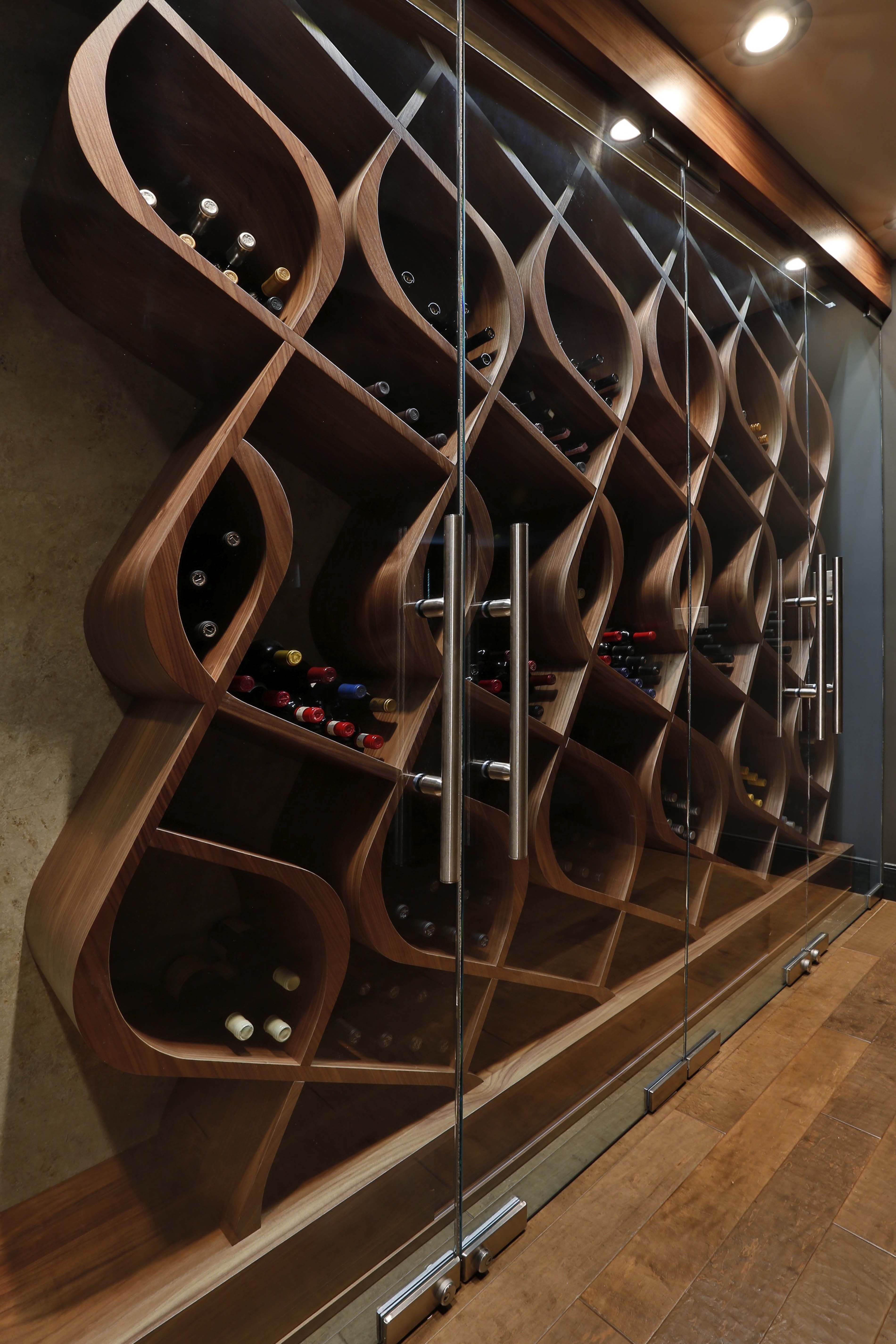 Wood Wine Storage Unique Wine Storage Designed And Built By Genuwine Cellars