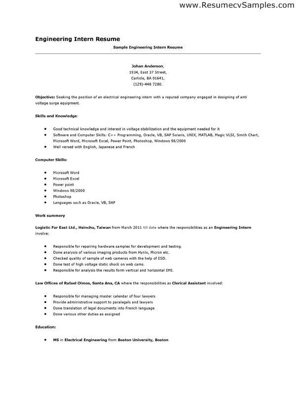 internship on resume sample functional resumes internship resume - examples of resumes for internships