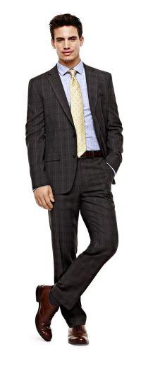 stafford slim-fit jacket silk tie and slim-fit suit pants ...