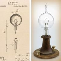 Left, Thomas Edisons patent drawing for an improvement in ...