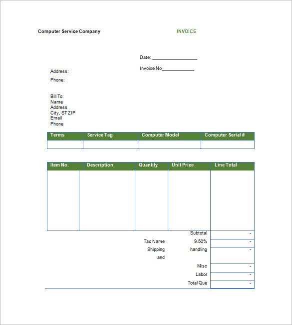 Printable Google Invoice Template , Download Invoice Template - google invoices templates