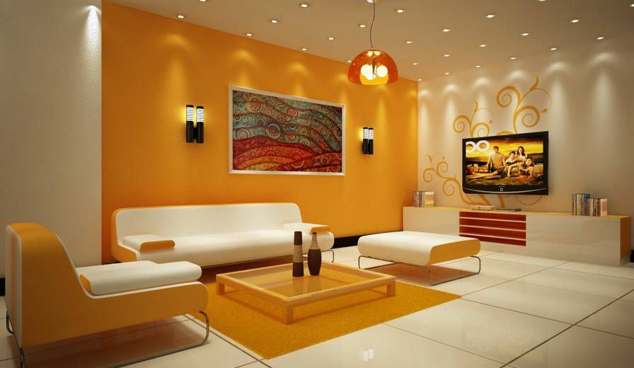 Yellow-accent-wall-color-for-living-room Ready To Sleep Anyone - yellow living room walls