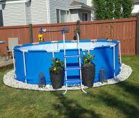 Above Ground Pool Landscaping. Backyard Living. Summer ...