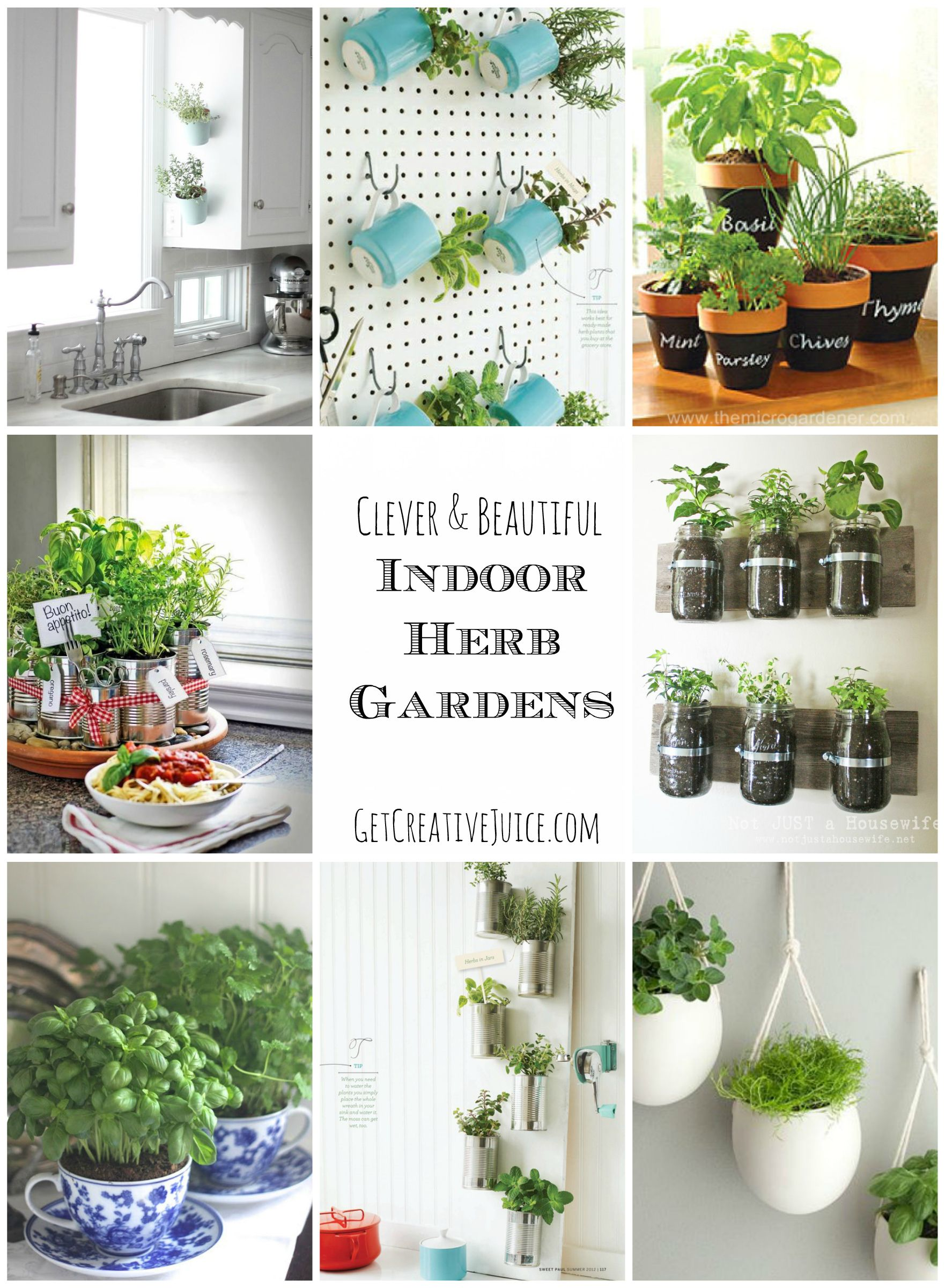diy kitchen ideas Indoor Herb Garden Ideas creative beautiful and easy ideas for growing an herb