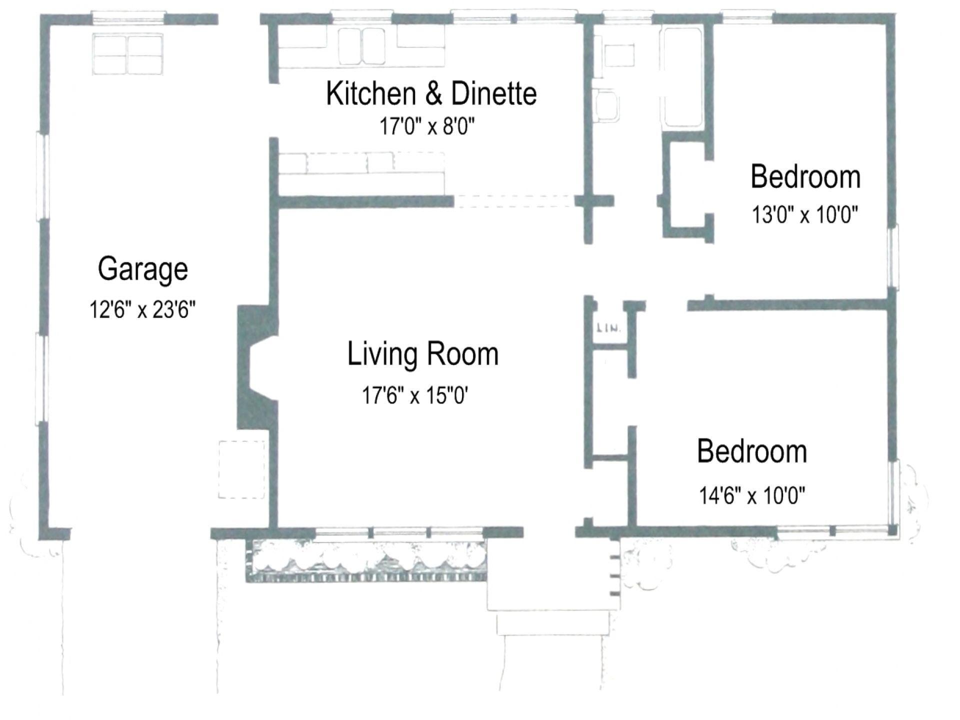 4 2 bedroom 2 bath 2 car garage modern floor plansmodern house