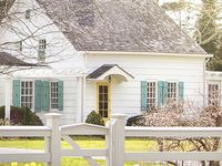 White exterior houses on pinterest brown roof houses