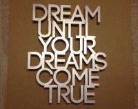 Dream Metal Wall Art Quote - Dream On - Aerosmith - Dream ...